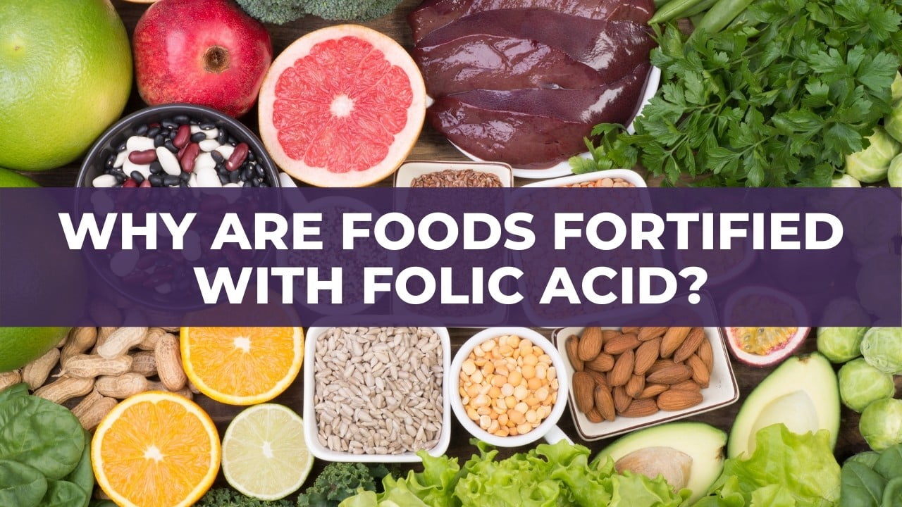 Why are foods fortified with folic acid